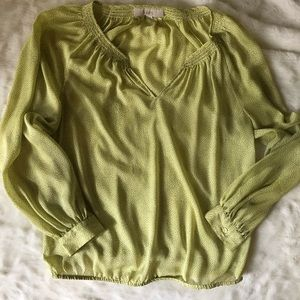 $3/$30 Loft yellow dot blouse m